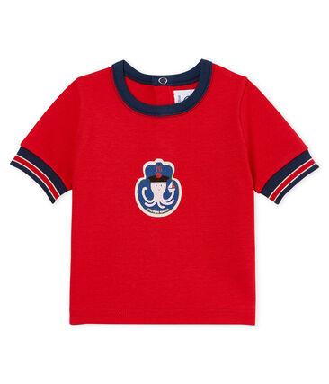Kurzärmeliges gemustertes baby-t-shirt jungen