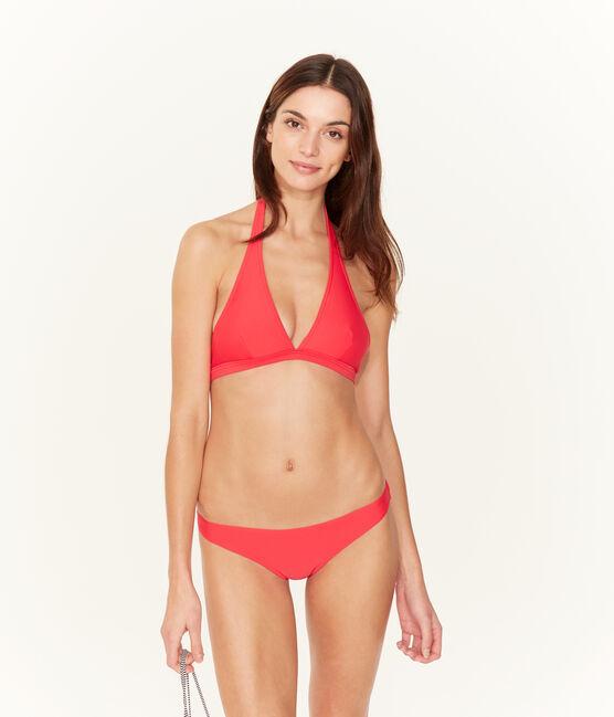 Einfarbiges bikini-oberteil damen rosa Groseiller