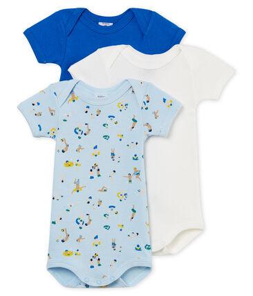 Trio kurzärmelige Baby-Bodys für Jungen lot .