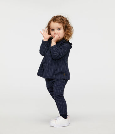 Gemusterte Baby-Legging mit Volants für Mädchen