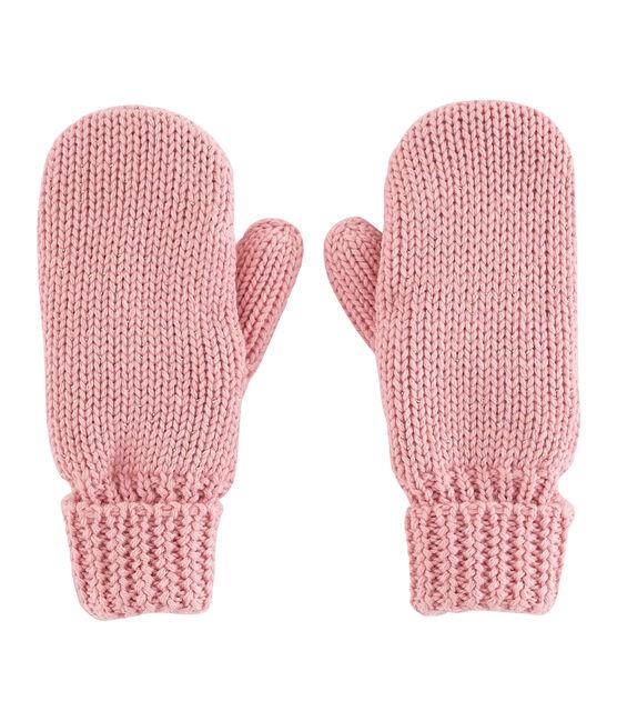 Kinderfäustlinge für Mädchen rosa Charme / gelb Or