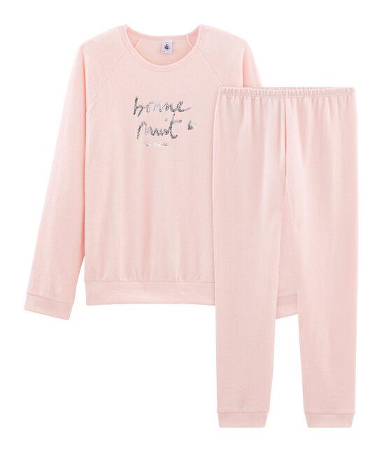 Pyjama aus aufgerautem, extra warmem Bouclé-Frottier für Mädchen MINOIS
