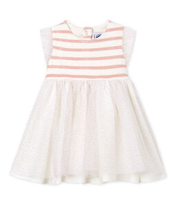 Ärmelloses baby-kleid aus materialmix mädchen