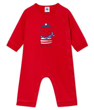 Unisex Baby Overall aus Molton rot Terkuit