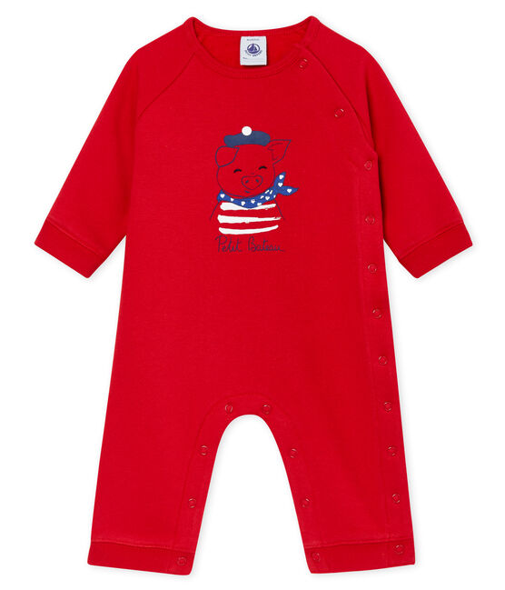 Unisex Baby Overall aus Molton rot Terkuit