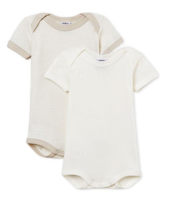 Duo kurzärmelige Baby-Bodys für Jungen lot .