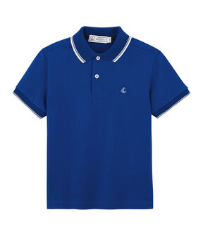 Kinder-Poloshirt für Jungen blau Surf