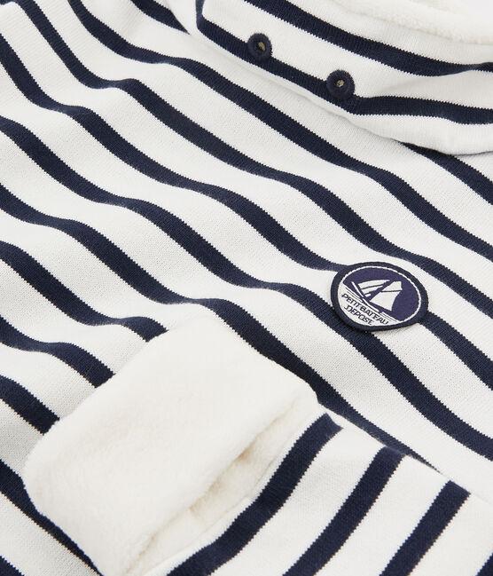 Sweatshirt für Jungen weiss Marshmallow / blau Smoking