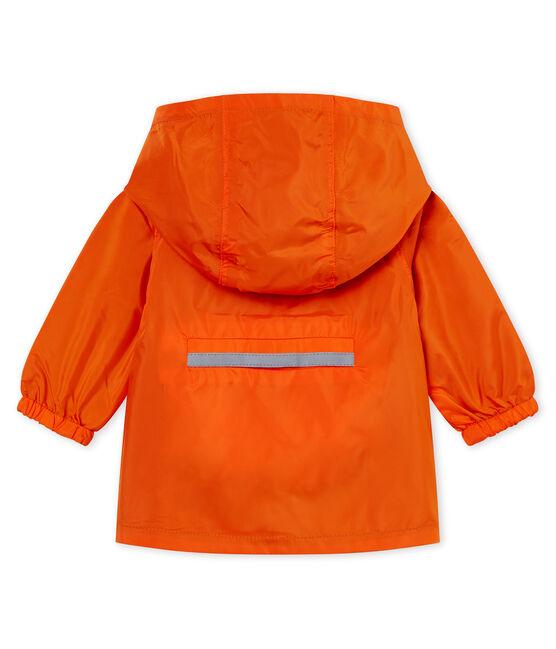 Wendbare winddichte baby-jacke jungen orange Carotte / blau Fontaine