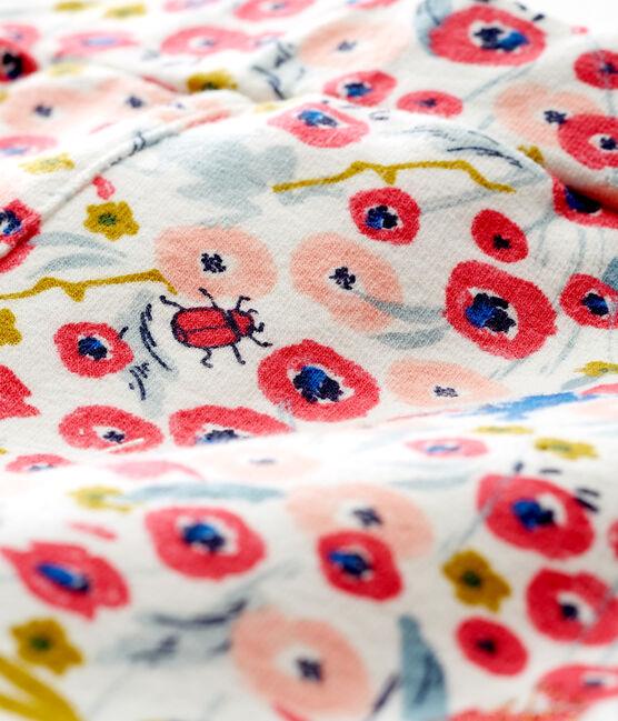Gemusterte baby-shorts mädchen weiss Marshmallow / weiss Multico