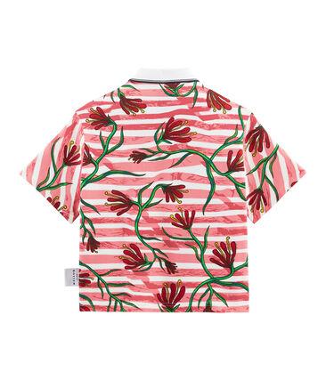 Kurzärmliges Polohemd weiss Marshmallow / weiss Multico