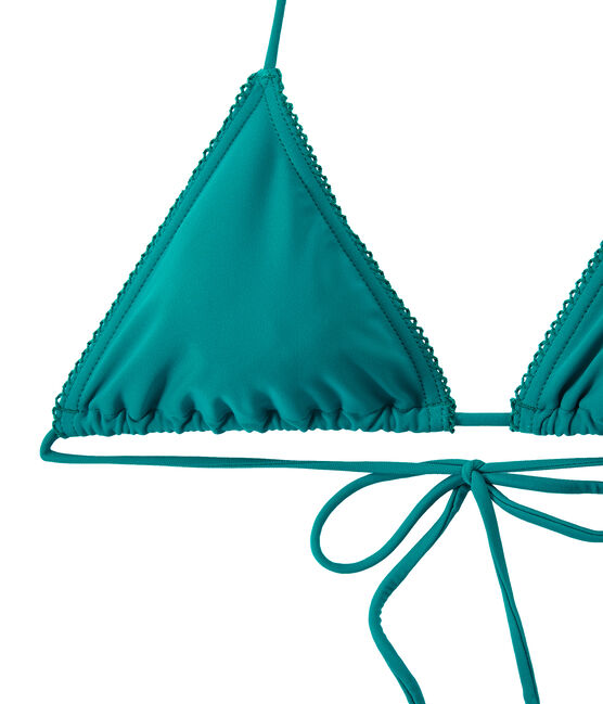 Einfarbiger Damen Bikini grün Verde