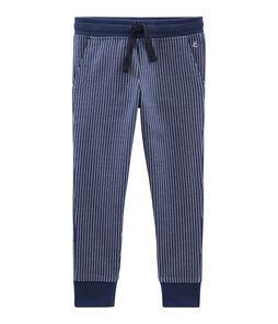 Strickhose für Jungen blau Smoking / weiss Marshmallow