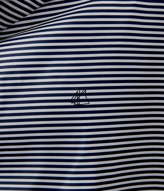 Kurze winddichte jacke unisex blau Smoking / weiss Marshmallow