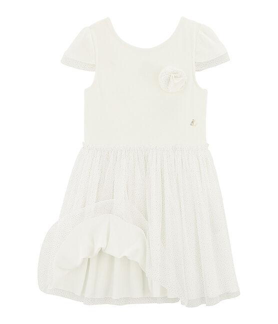 Kinder-Festtagskleid für Mädchen weiss Marshmallow