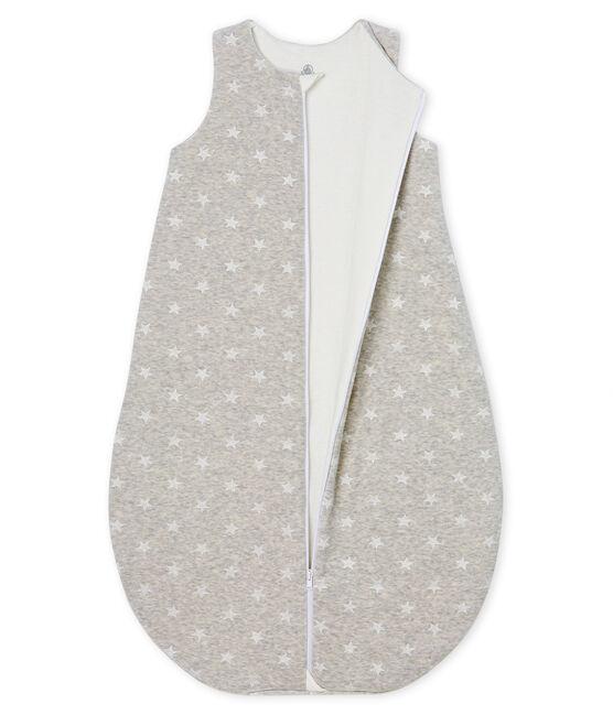 Babyschlafsack aus Samt für Jungen grau Beluga / weiss Marshmallow