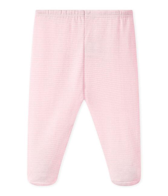 BABY-HOSE MIT FUSS, UNISEX, Uni rosa Vienne / weiss Ecume