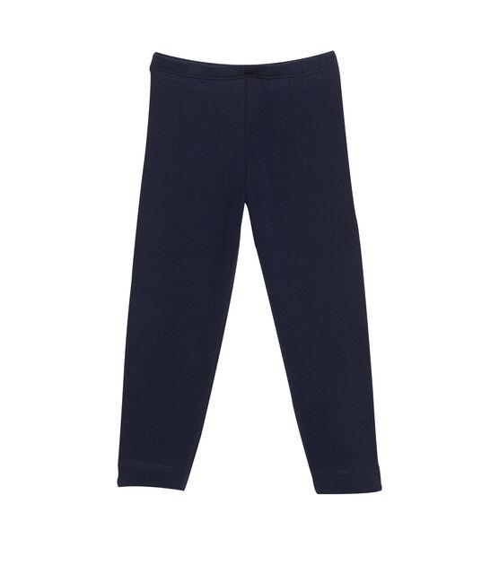 Leggings, Mädchen, aus Lycra-Jersey blau Smoking