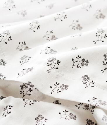 Gemustertes baby-kleid und bloomer mädchen weiss Marshmallow / weiss Multico