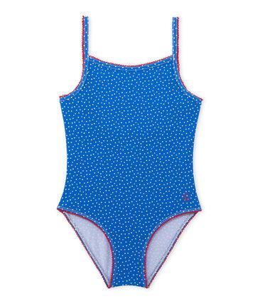 Mädchen-Badeanzug mit Punktmuster