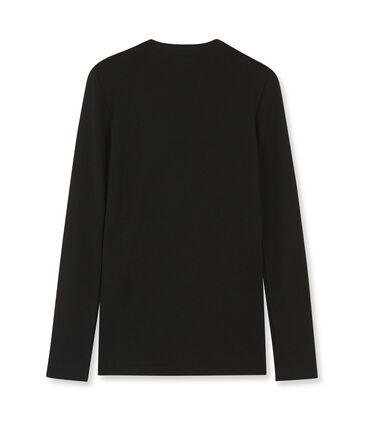 Emblematisches langärmliges T-Shirt für Damen schwarz Noir