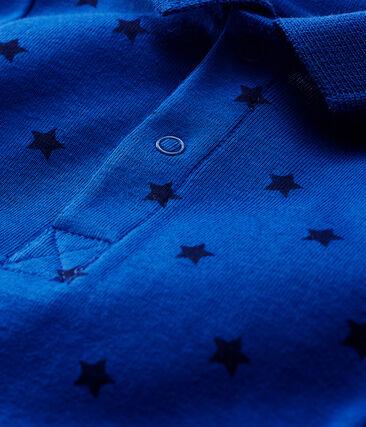 Langärmliger Baby-Body mit Polokragen für Jungen blau Limoges / blau Smoking
