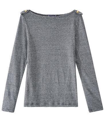 Gestreiftes Damen-Langarmshirt aus Leinen