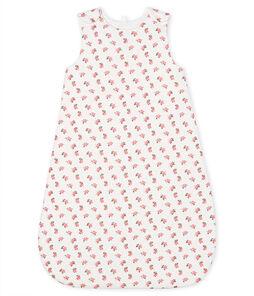 Babyschlafsack aus Samt weiss Marshmallow / weiss Multico