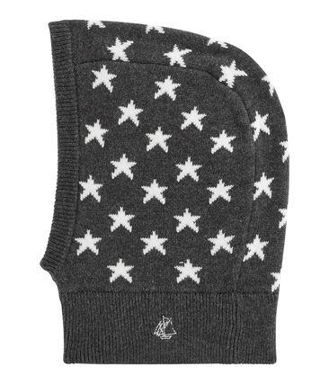 Kapuzenmütze für Babys, unisex schwarz City / weiss Marshmallow