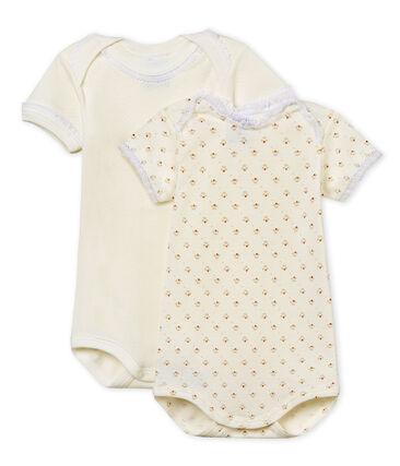 Duo kurzärmelige Baby-Bodys für Mädchen
