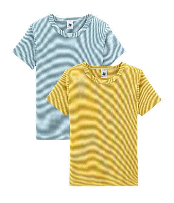 Duo aus kurzärmeligen T-Shirts für kleine Jungen lot .