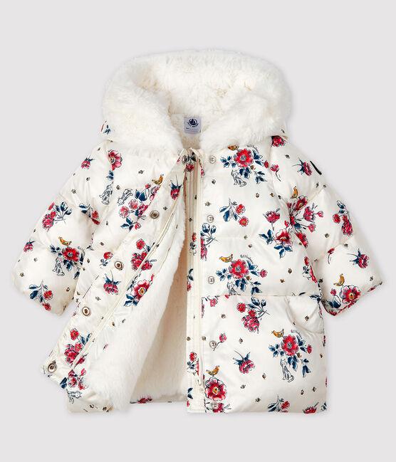 Baby-Anorak für Mädchen weiss Marshmallow / weiss Multico
