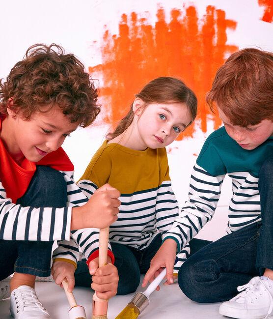 Kinder-Seemannshemd gelb Bamboo / weiss Marshmallow