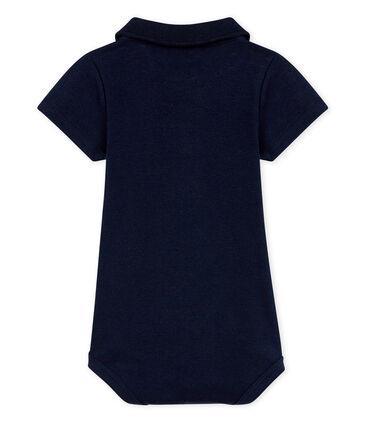 Baby-Body mit Polohemdkragen für Jungen blau Smoking