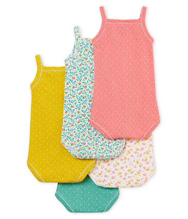 5er-Set Baby-Trägerbodys für Mädchen
