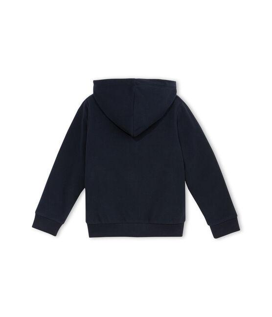 Sweatshirt aus Fleece mit Reißverschluss blau Abysse