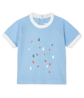 Kurzärmeliges Baby-T-Shirt für Jungen blau Jasmin