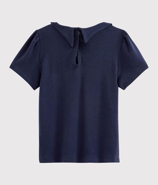 Kinder-T-Shirt mit Bubikragen für Mädchen SMOKING
