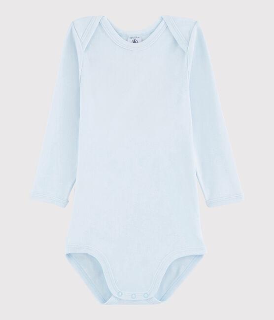 Langärmeliger Baby-Body Mädchen/Jungen blau Fraicheur
