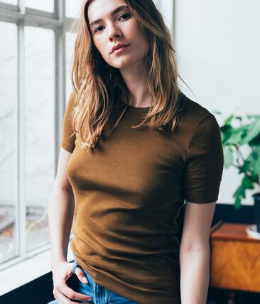 damen-kurzarmshirt braun Autumn