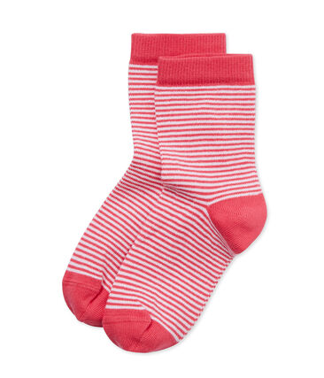Kinder-Socken mit Milleraies-Ringelmuster