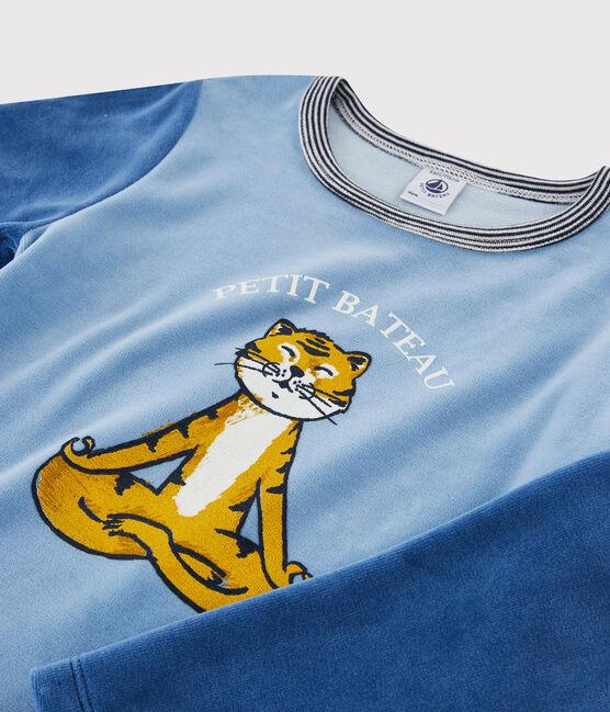 Samt-Pyjama für kleine Jungen ALASKA/MAJOR