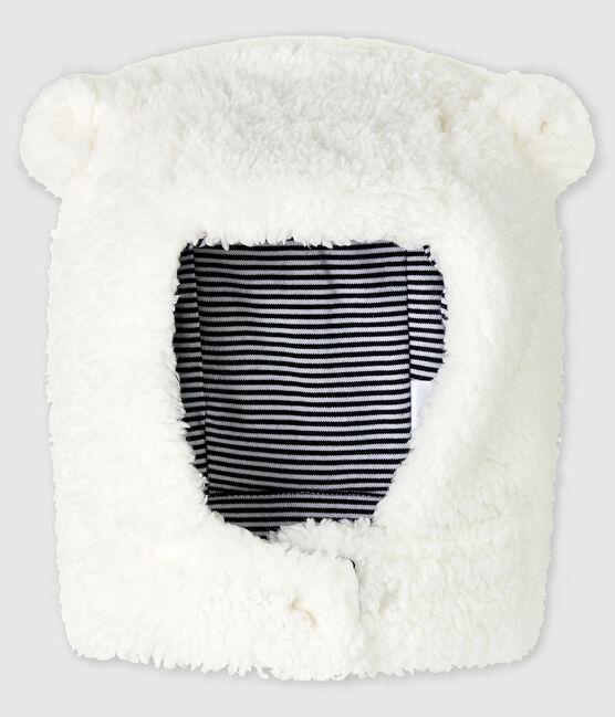 Baby-Mütze aus Sherpa für Mädchen/Jungen weiss Marshmallow