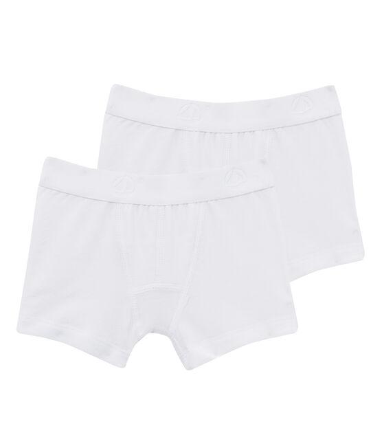 Set aus zwei weißen Boxershorts für Jungen lot .