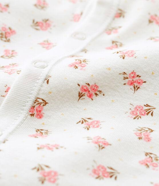 Kombi-Overall aus Rippstrick für Babys weiss Marshmallow / rosa Gretel