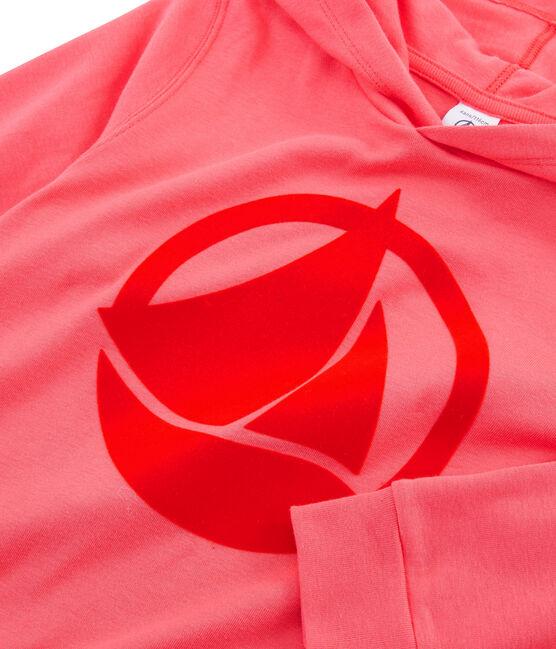 Kinder-Kapuzensweatshirt rosa Groseiller