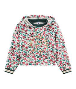 Kinder-Sweatshirt Mädchen grau Beluga / weiss Multico