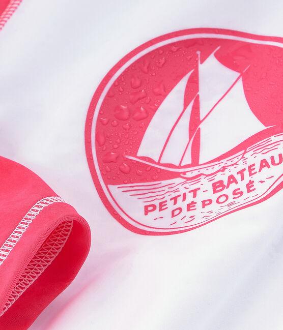 Anti-UV-T-Shirt LSF 50+ Baby Mädchen und Jungen weiss Marshmallow / rosa Cupcake