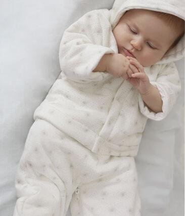 3-in-1-Baby-Schneeanzug unisex weiss Marshmallow / beige Perlin