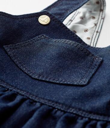 Langes baby-latzleid aus strick im denimlook mädchen